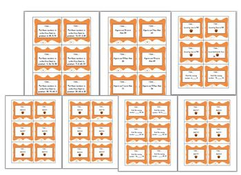 Thanksgiving Pack Comprehension Word Search Math I Can Task Cards