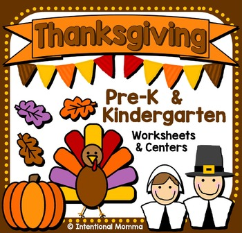 Thanksgiving Pack for Pre-K and Kindergarten