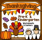 Thanksgiving Pack for Pre-K and Kindergarten