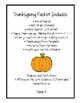 Thanksgiving Packet - - Super Fun - - Updated!!