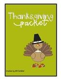 Thanksgiving Packet - - Super Fun - - Updated!!
