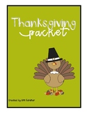 Thanksgiving Packet - Word Skills, Word Searches and Poetr