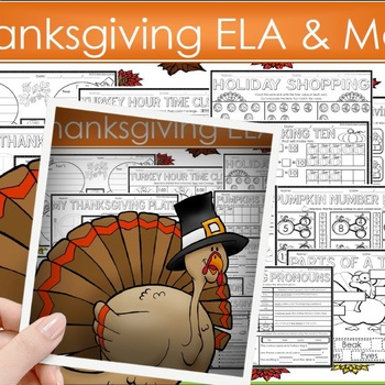 Thanksgiving Activities Thanksgiving Math & Literacy Worksheets  & Grammar