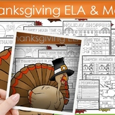 Thanksgiving Activities   Thanksgiving Math and Literacy  