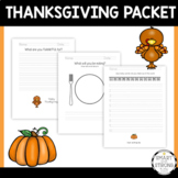 Thanksgiving Activity Packet - FREE