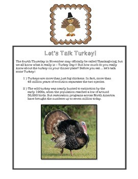 Thanksgiving Packet - NO PREP Holiday Work, Early Finishers, Centers ELA & Math