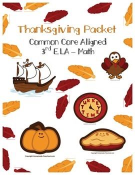 Thanksgiving Packet - NO PREP Holiday Work, Early Finisher