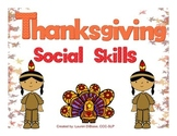 Thanksgiving Social / Pragmatic Skills Packet!