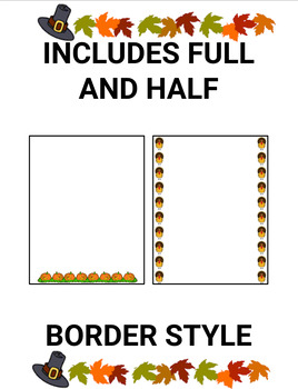 Thanksgiving Page Borders