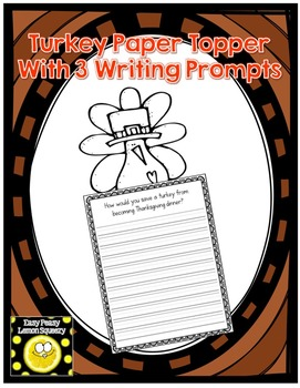 Thanksgiving Page Topper with Writing Prompts