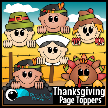 Thanksgiving Clip Art Page Toppers