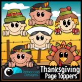 #OctTpTClipLove Thanksgiving Clip Art Page Toppers