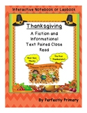 Thanksgiving Paired Narrative and Informational Text Close