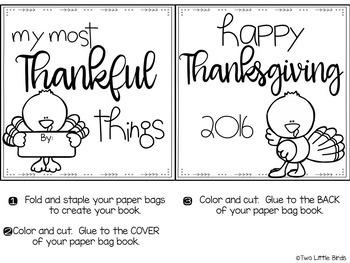 Thanksgiving Paper Bag Book