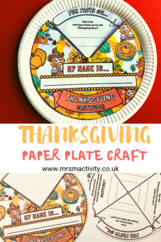 photograph relating to Thanksgiving Craft Printable identify Thanksgiving Paper Plate Craft Printable