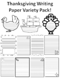 Thanksgiving Paper Single & Primary Lined Paper Thanksgiving Writing Paper Fall