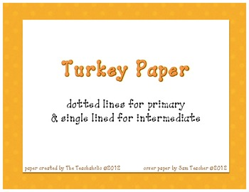 Thanksgiving Paper
