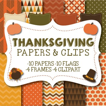 Thanksgiving Papers & Clipart