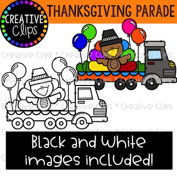 Thanksgiving Parade Clipart {Creative Clips Clipart}