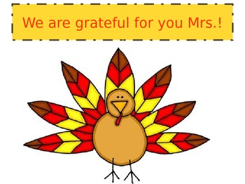 Editable Thanksgiving Parent Helper Gift