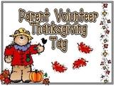 Thanksgiving Parent Volunteer Thank You