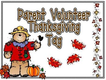 Thanksgiving Parent Volunteer Thank You