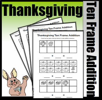 Thanksgiving Part, Part, Whole Addition - Making Number Sentences