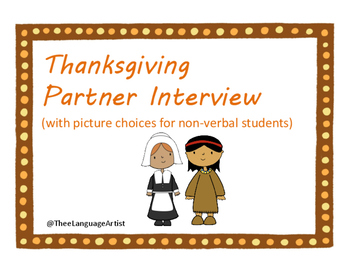 Thanksgiving Social Skills: Partner Interview
