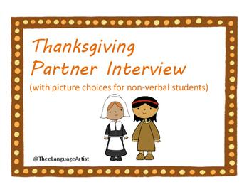 Thanksgiving Social Skills: Partner Interview