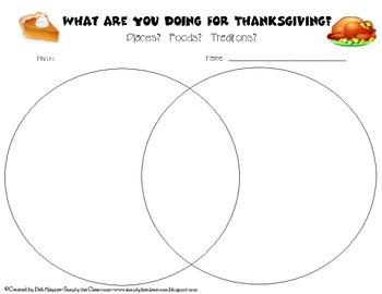 Thanksgiving Partner Venn Diagram