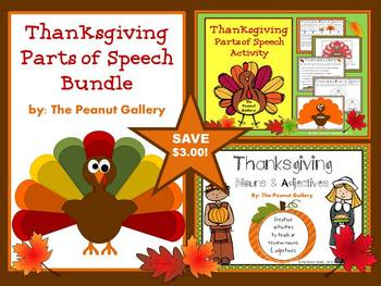 Thanksgiving Parts of Speech Bundle