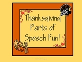 Thanksgiving Parts of Speech Fun with Sorting and Sentence Writing Activities