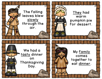 Thanksgiving Parts of Speech Game