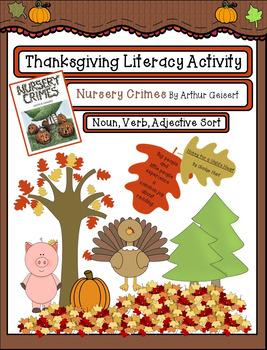 Thanksgiving Parts of Speech Literacy Activity: Nursery Cr