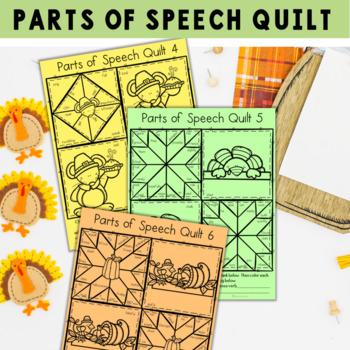 Thanksgiving Parts of Speech Quilt