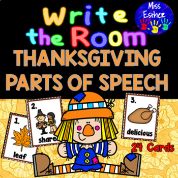 Thanksgiving Parts of Speech Write the Room