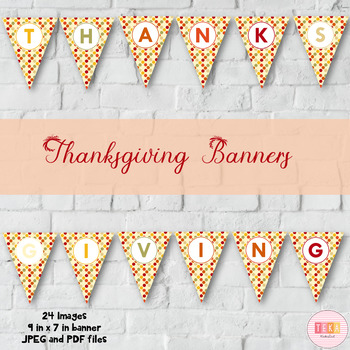 photograph regarding Printable Thanksgiving Banners identified as Thanksgiving Celebration Bunting, Banners Printable [TeKa Kinderland]