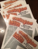 Thanksgiving Party Scratch Off Tickets