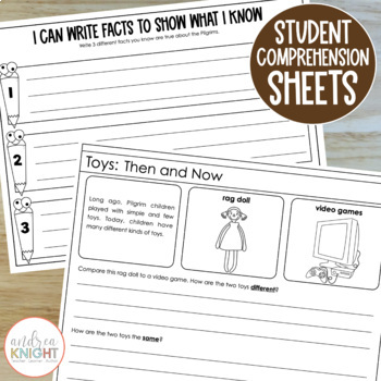 Thanksgiving:  Past & Present  {Activities and Assessments for K-2}