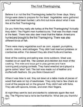 Thanksgiving Past and Present