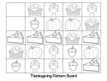 Thanksgiving Pattern Board