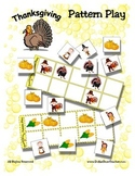 Thanksgiving Pattern Game {Common Core} Kindergarten Mat &