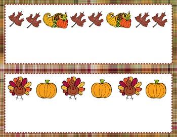 Thanksgiving Pattern Labeling Game
