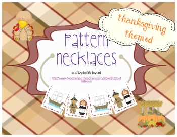 Thanksgiving Pattern Necklaces