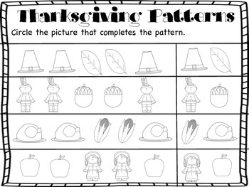 Thanksgiving Pattern Pages