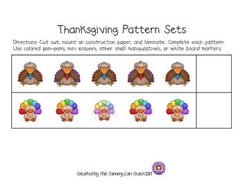 Thanksgiving Pattern Sets