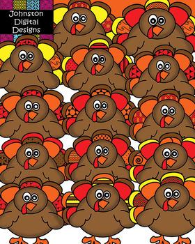 Thanksgiving Pattern Turkey Clipart