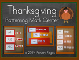 Thanksgiving Patterning Math Center