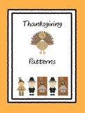 Thanksgiving Patterns - AB, ABB, AAB, ABC
