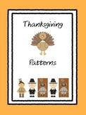Thanksgiving Patterns - AB, ABB, AAB, ABC